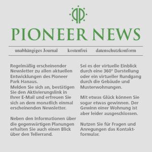 PIONEER-Newsletter – jetzt abonnieren!
